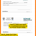 doctor note