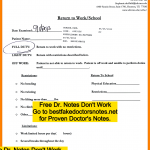 fake doctor's note fake